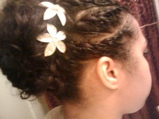 A Natural Updo for Work or Play