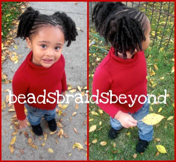 Baby Girl's Natural Hair and Flexi Rods