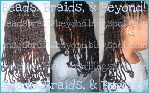 Natural Hair and Box Braids