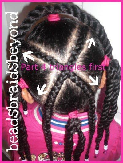 X Cornrow Style on Natural Hair