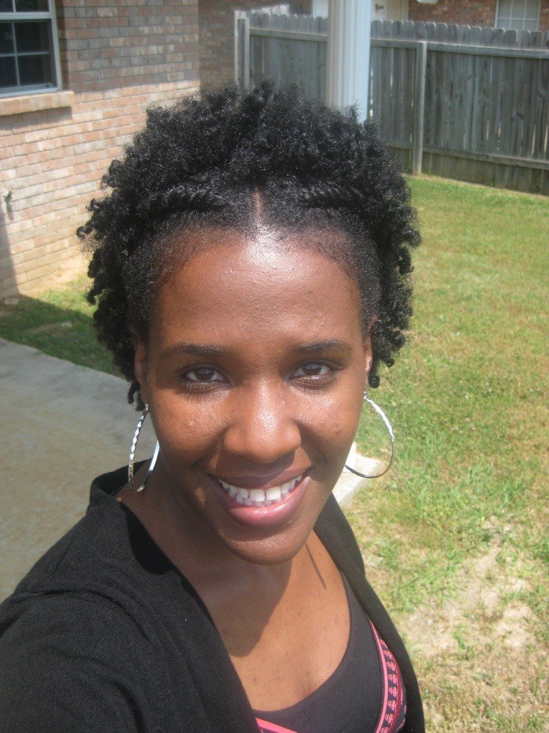 Flat Twist Curly Fro- Natural Hair Style