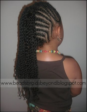 Side Cornrows into Sister Twists for Natural Hair