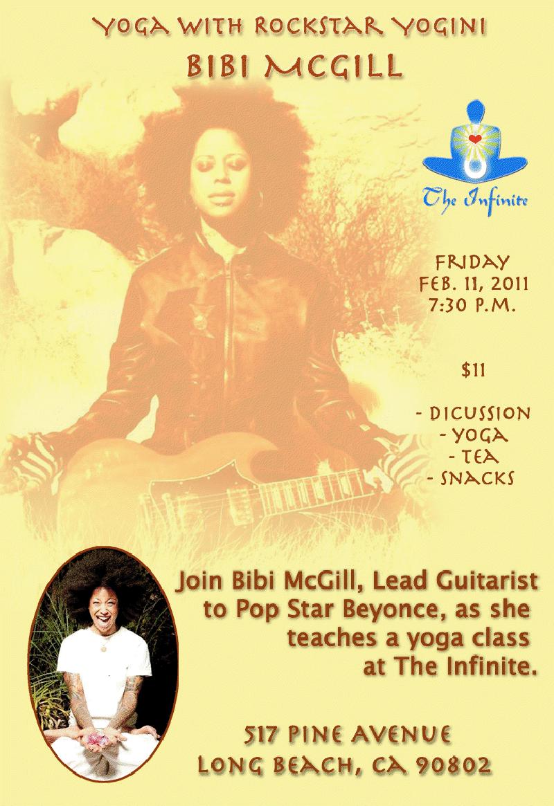 Bibi Mcgill's Yoga Class on February 11th!