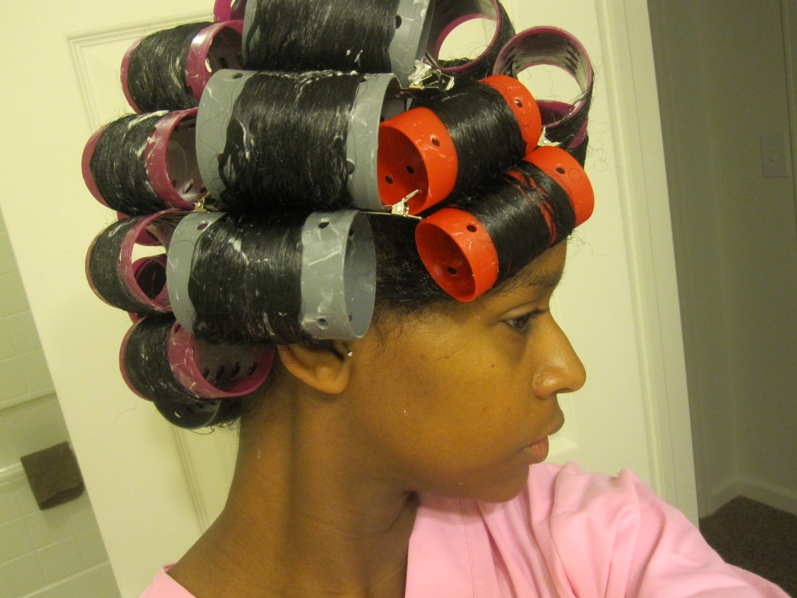 MahoganyCurls' Roller Set How-to