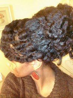 Beautiful Updo- Tutorial for Natural Hair