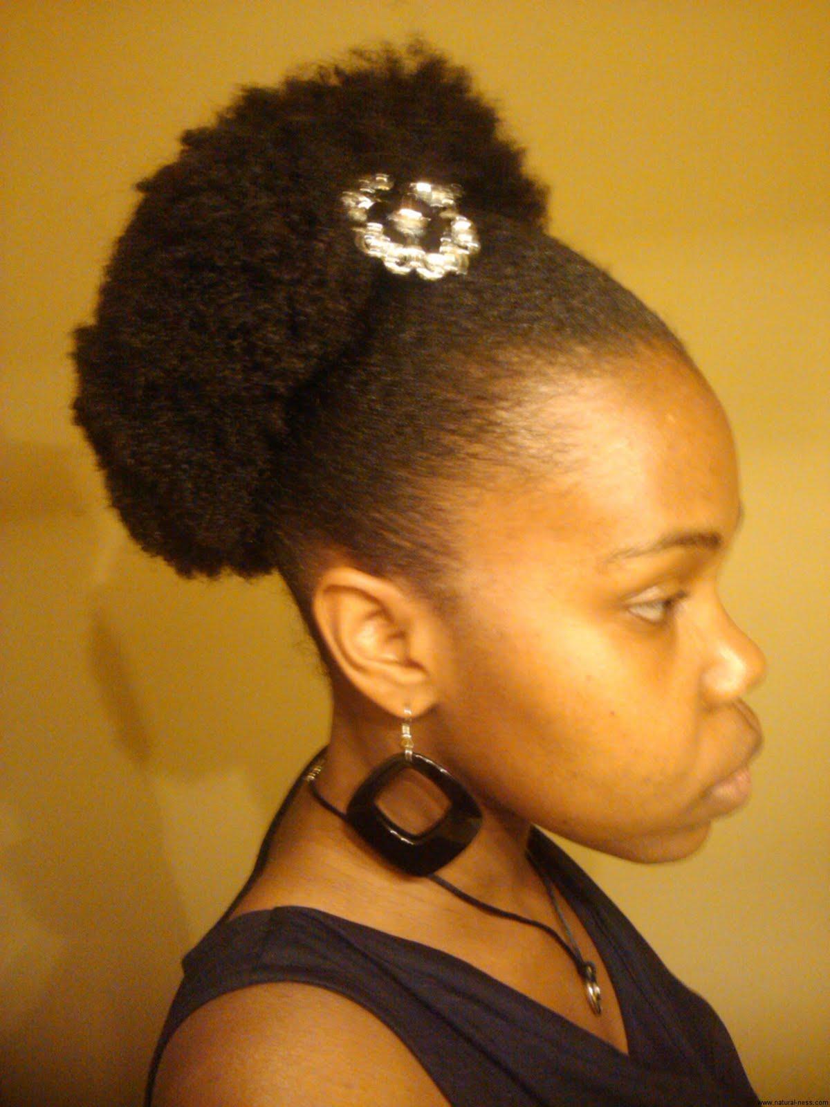 Natural Hair Puff on 'Stubborn Hair'