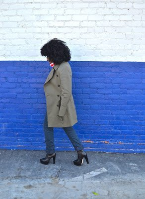 Look of the Week- Trench Coat + Gingham Shirt