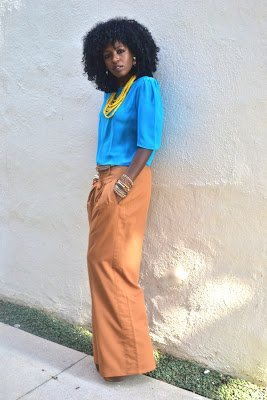 Look of the Week- Puff Sleeve Blouse + Palazzo Pants