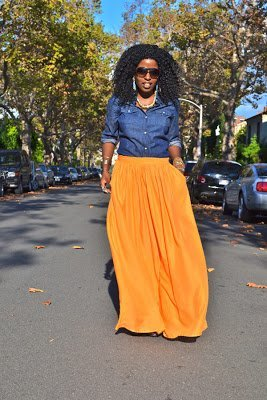 Look of the Week- Leather Moto Jacket + Maxi