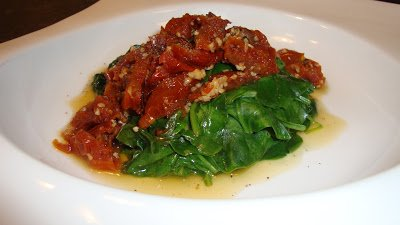 Let's Cook- Sautéed Spinach w/ Sun-Dried Tomatoes