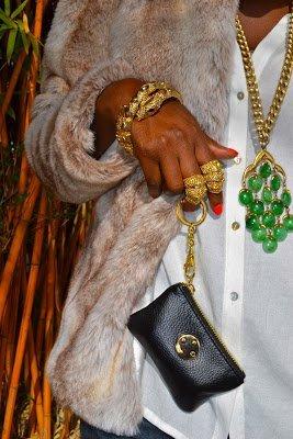 Look of the Week-Faux Fur Jacket + Kimono Shirt