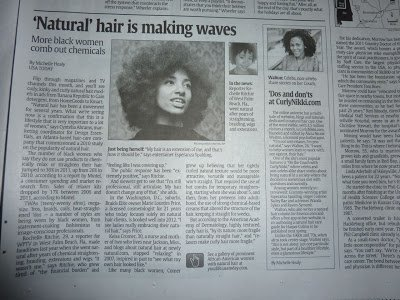 Natural Hair is Making Waves- USA Today