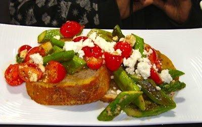 Let's Cook!- Warm Asparagus, Tomato & Feta Salad