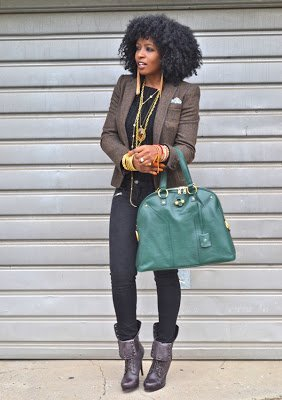 Naturally Fashionable- Black on Black