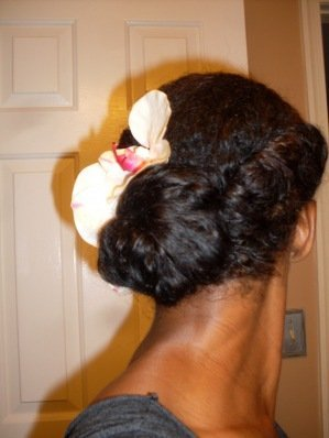 Roll and Side Bun- Natural Hair Styles