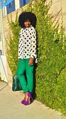 Naturally Fashionable- White Polka Dot Blouse