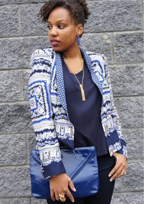Naturally Fashionable- Lady Wears the Blues