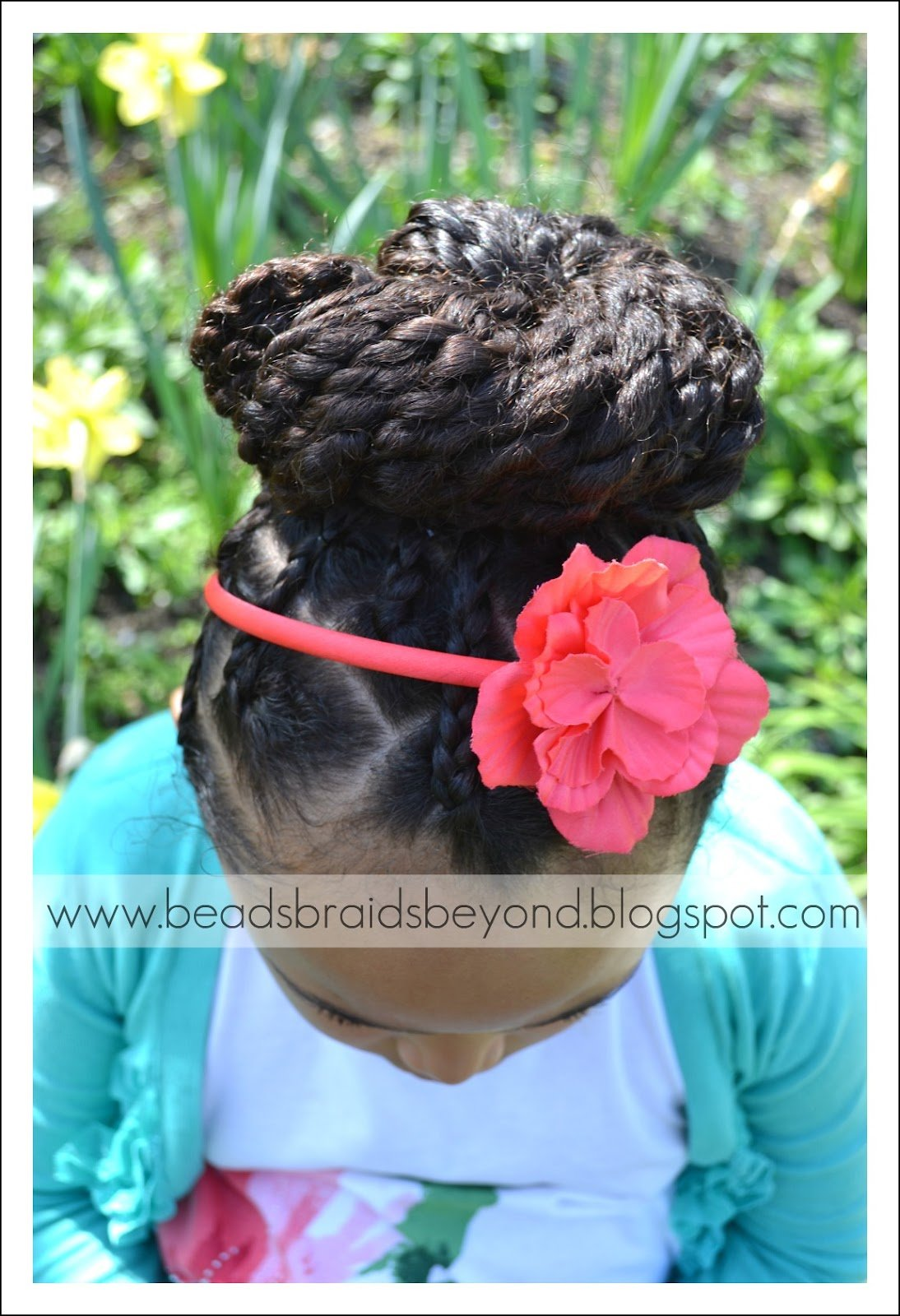 Two Strand Twists + Braided Roots High Bun