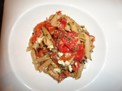 Let's Cook- Penne Pasta with Roasted Red Peppers
