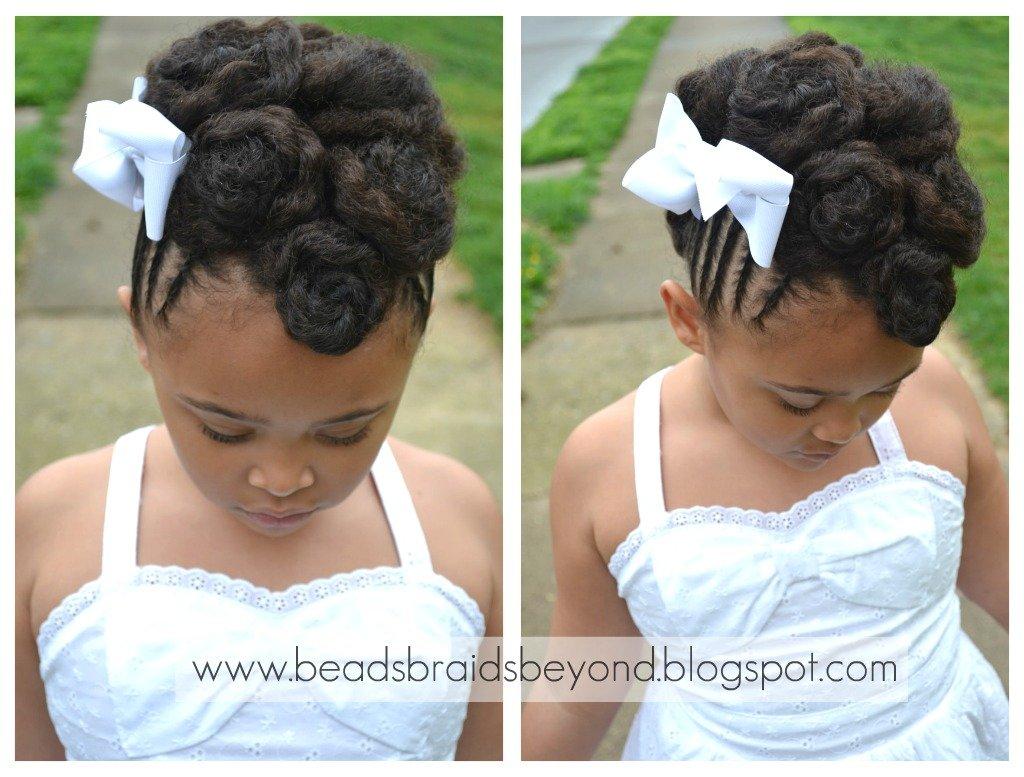 Natural Hair Updo: Twisted Cinnabuns w/ Cornrows