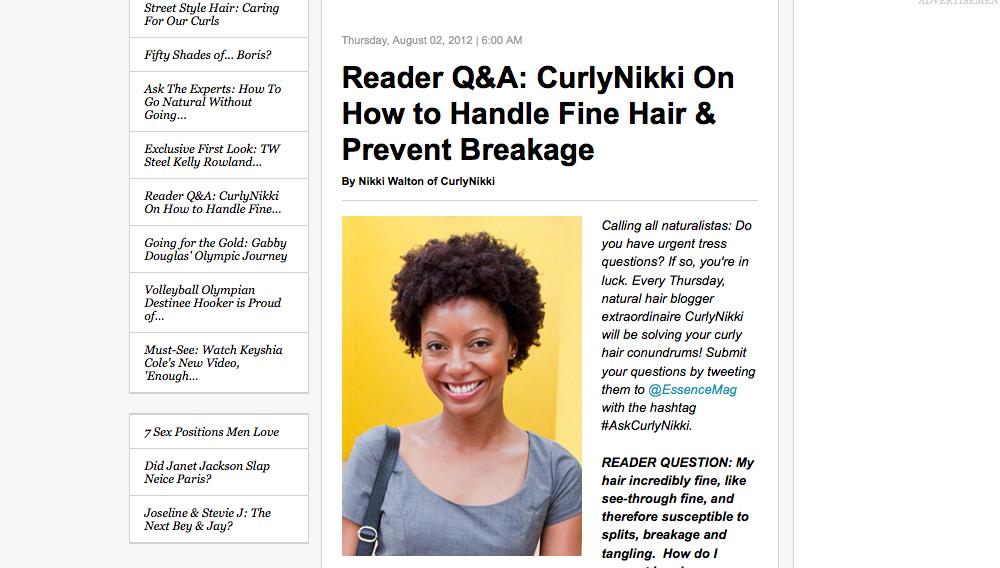 On Handling Fine Hair and Preventing Breakage