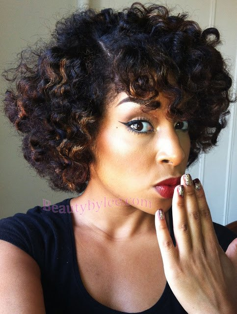 Heat Stretched Bantu Knot-Out- Natural Hair Styles