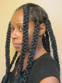 Satin Scarf Braid Out- Natural Hair Style Tutorial