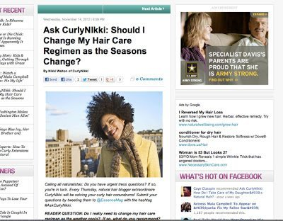 Winter Hair Care Regimen