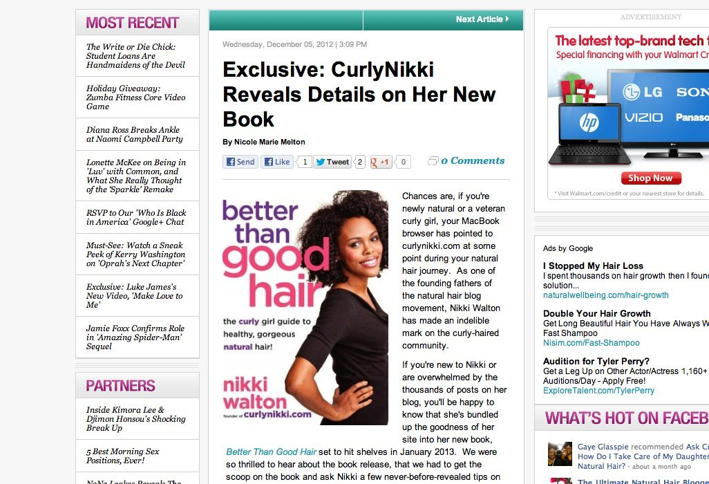 My Interview with Essence.com