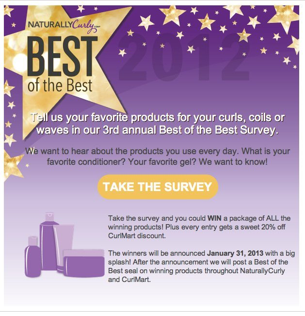 NaturallyCurly's Best of the Best Survey!