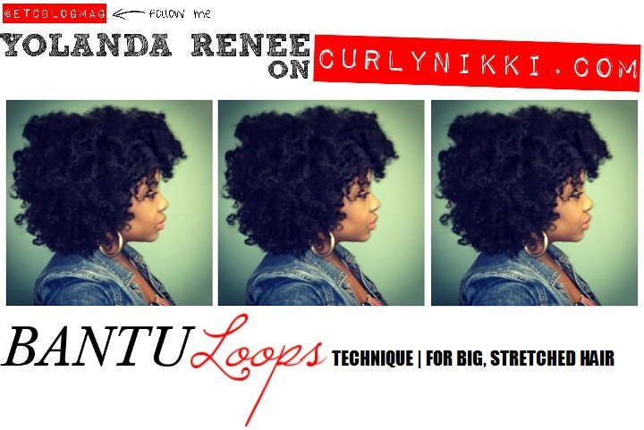 The Bantu Loops Technique- Natural Hair Styles