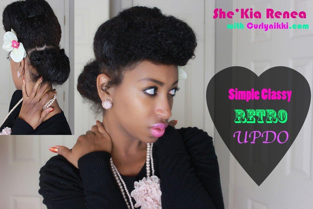 Classy, Retro Updo!- Natural Hair Styles