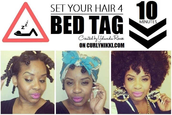 Set Your Natural Hair For Bed, in 10 Minutes