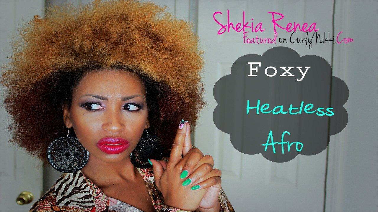 Foxy Heatless Afro- No Heat Blowout
