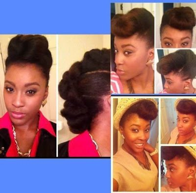 2 Easy, Chic Updos- Natural Hair Styles
