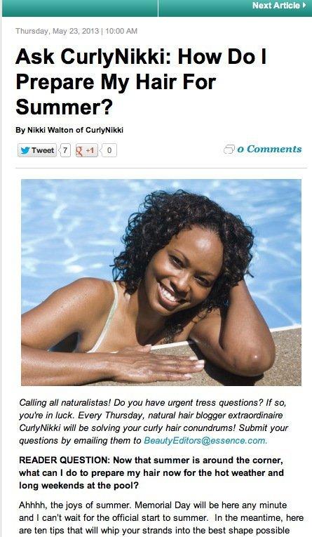 Ask CurlyNikki: Summer Ready Curls?