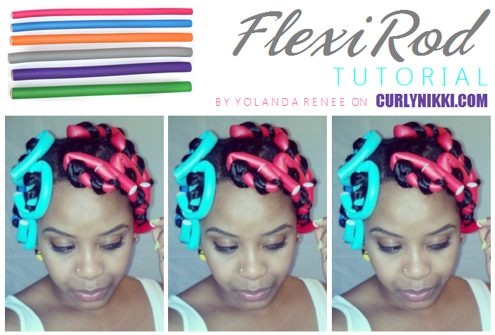 Flexirod Tutorial for Big Curls- Natural Hair Style