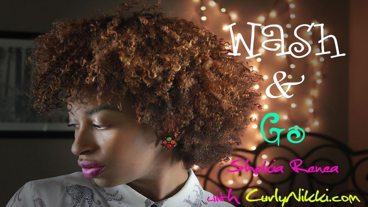 A Wash & Go Routine- Natural Hair Styles