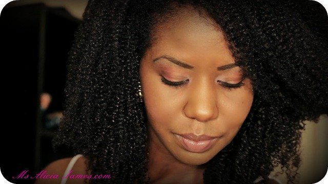 Finger Combing Tight Curly Natural Hair