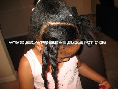 Pony Tails with a Twist- Natural Hair Styles for Kids