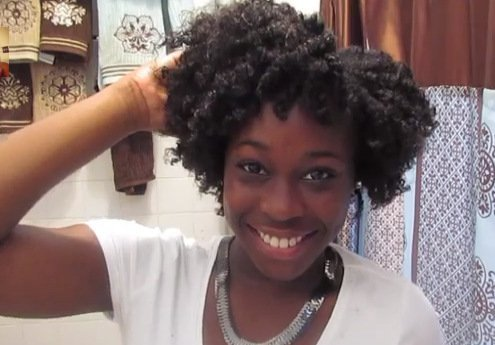 Chunky Flat Twist out on Natural Hair