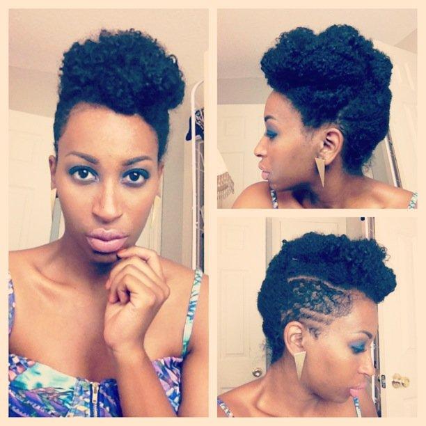 Classy Pin Up- Natural Hair Style