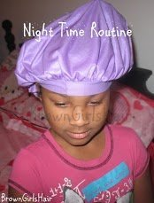 A Night Time Routine for Curly Kids