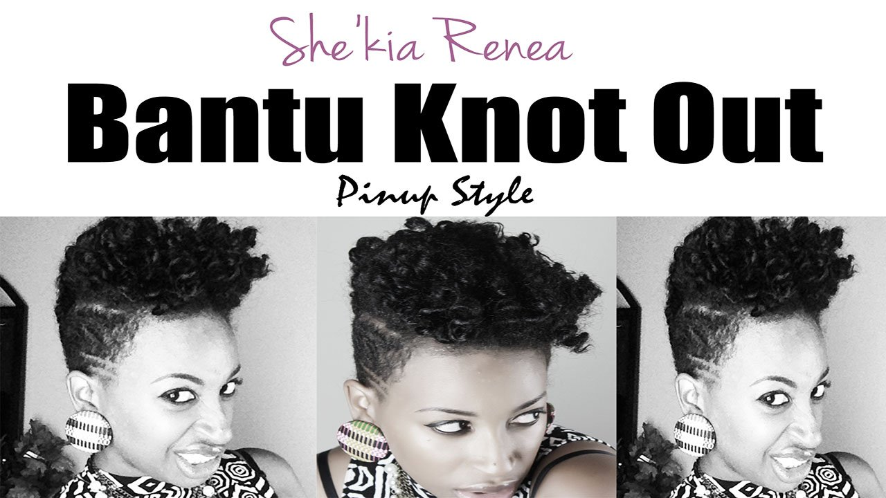 Bantu Knot-Out & Pinup Style- Natural Hair Styles