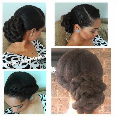 Natural Hair Style- Elegant Twisted Bun
