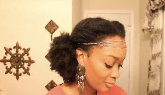 Boho Chic Low Puff- Natural Hair Style Tutorial