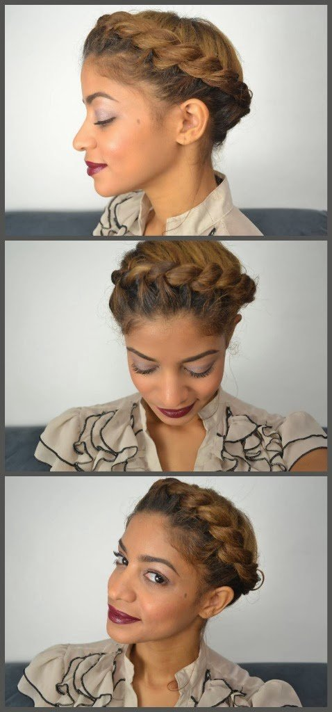 Halo Updo on Natural Hair