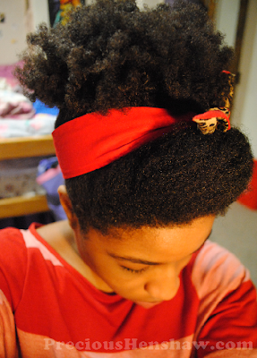Pin-Up Scarf Hairstyle for Natural Hair