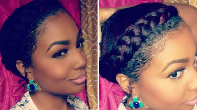 Goddess Braid- Medium-Length Natural Hair Style
