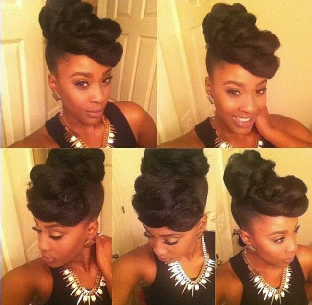 Glam Protective Style in 5 Minutes!- Natural Hair Styles